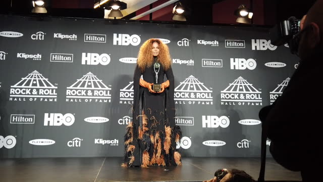 janet jackson at the 2019 rock roll hall of fame induction ceremony press room at barclays center on march 29 2019 in new york city - hall of fame stock videos and b-roll footage
