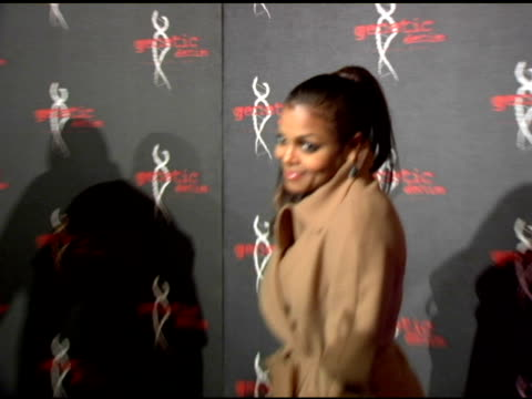 janet jackson at the genetic denim's oneyear anniversary and launch of their revamped collection red carpet at area nightclub in los angeles... - janet jackson stock videos & royalty-free footage