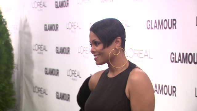 janet jackson at the glamour magazine honors the 2010 women of the year red carpet at new york ny - janet jackson stock videos & royalty-free footage