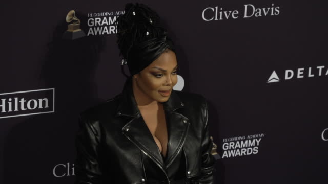 janet jackson at the recording academy and clive davis' 2020 pregrammy gala at the beverly hilton hotel on january 25 2020 in beverly hills california - janet jackson stock videos & royalty-free footage