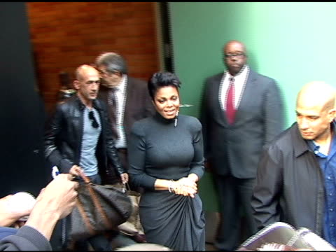 janet jackson outside the 'good morning america' studio at the celebrity sightings in new york at new york ny - janet jackson stock videos & royalty-free footage