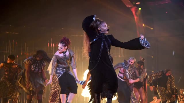 janet jackson performs at the mtv emas 2018 on november 4, 2018 in bilbao, spain. - mtv europe music awards stock videos & royalty-free footage