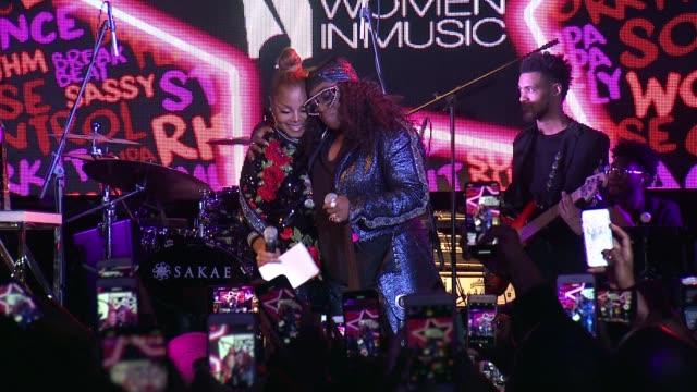 speech janet jackson presents missy elliott at essence 9th annual black women in music at highline ballroom on january 25 2018 in new york city - janet jackson stock videos & royalty-free footage