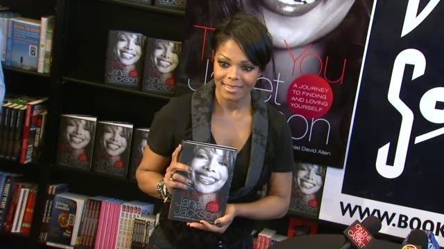 janet jackson signs copies of her debut book 'true you a guide to finding and loving yourself' west hollywood ca united states 04/15/11 - janet jackson stock videos & royalty-free footage