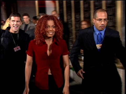 Janet Jackson walking down the 1997 MTV Video Music Awardss red carpet