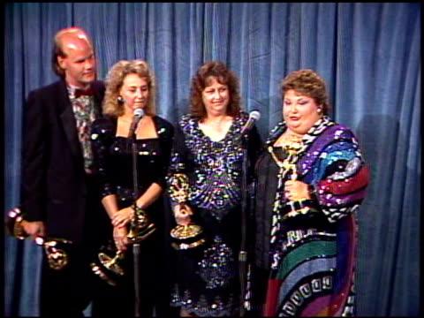 Janet Lawler at the 1989 Emmy Awards Backstage at the Pasadena Civic Auditorium in Pasadena California on September 17 1989
