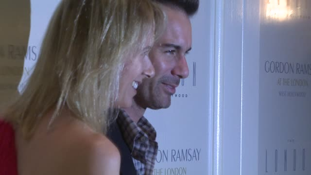 janet mccormack and eric mccormack at the gordon ramsay at the london west hollywood at los angeles ca. - eric mccormack stock videos & royalty-free footage