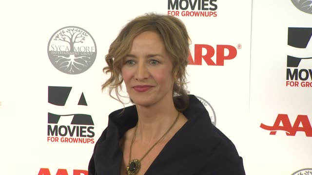 vídeos de stock, filmes e b-roll de janet mcteer at aarp magazine's 11th annual movies for grownups awards gala on 2/6/12 in beverly hills ca - janet mcteer