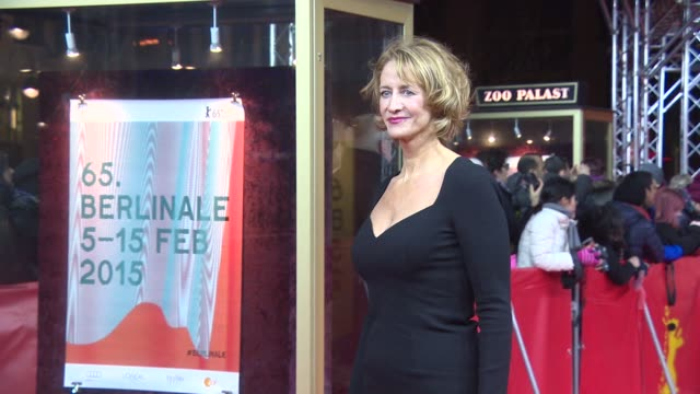 vídeos de stock, filmes e b-roll de janet mcteer at 'angelica' red carpet 65th berlin film festival at zoo palast on february 07 2015 in berlin germany - janet mcteer