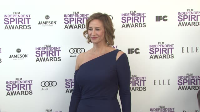 vídeos de stock, filmes e b-roll de janet mcteer at the 2012 film independent spirit awards arrivals on 2/25/12 in santa monica ca united states - janet mcteer