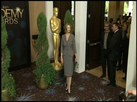 vídeos de stock, filmes e b-roll de janet mcteer at the 84th academy awards nominations luncheon in beverly hills ca on 2/6/12 - janet mcteer