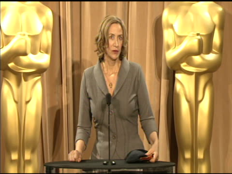 vídeos de stock, filmes e b-roll de janet mcteer on keeping herself grounded and on her nominated role at the 84th academy awards nominations luncheon in beverly hills ca on 2/6/12 - janet mcteer