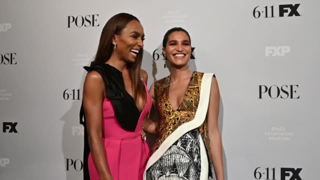 """janet mock & indya moore at the fx network's """"pose"""" season 2 premiere on june 05, 2019 in new york city. - fx network stock videos & royalty-free footage"""