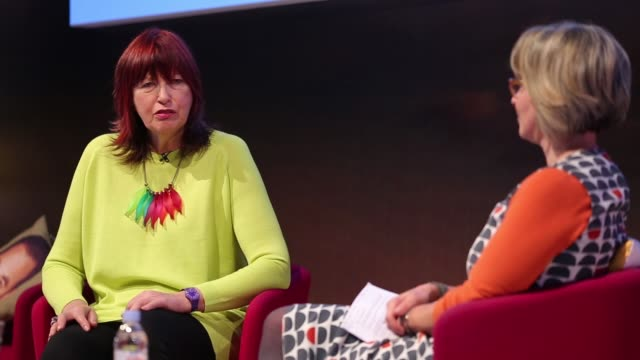 janet street porter at advertising week europe brand you using your brand to get what you want on march 25 2015 in london england - janet street porter video stock e b–roll