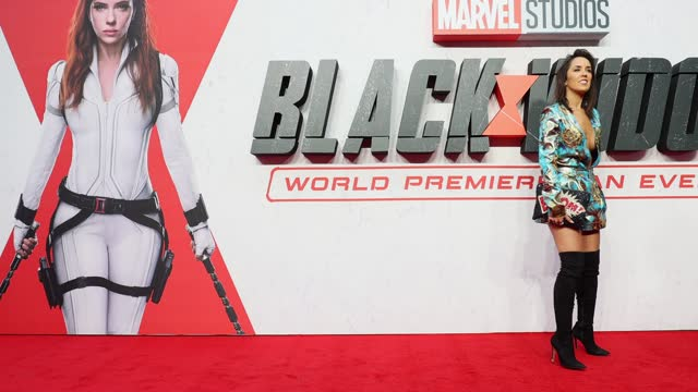 """janette manrara attends the """"black widow"""" uk film premiere at cineworld leicester square on june 29, 2021 in london, england. - film industry stock videos & royalty-free footage"""