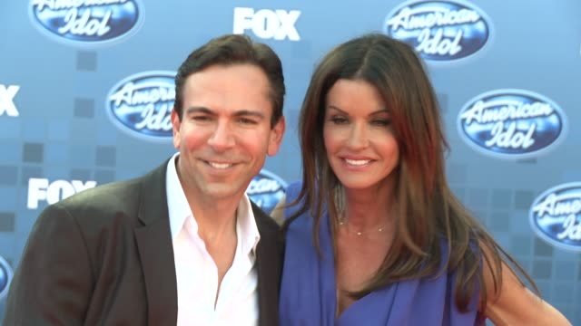 janice dickinson at the fox's 'american idol 2011' finale results show at los angeles ca - results show stock videos & royalty-free footage