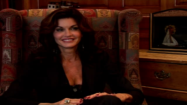 janice dickinson interview; location unknown int janice dickinson interview sot - thank you very the compliment about amtn, janice dickinson show is... - only boys stock videos & royalty-free footage