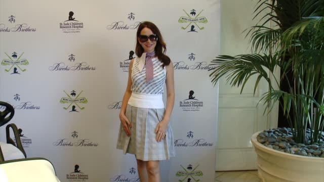 janie bryant at brooks brothers hosts mini classic golf tournament to benefit st jude children's research hospital at brooks brothers beverly hills... - st. jude children's research hospital stock videos and b-roll footage