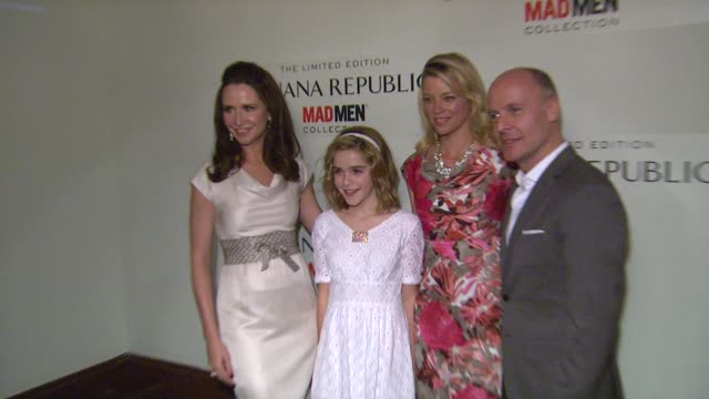 Janie Bryant Kiernan Shipka Amy Smart Simon Kneen at Spring Banana Republic Mad Men Collection Launch on 2/29/12 in Los Angeles CA