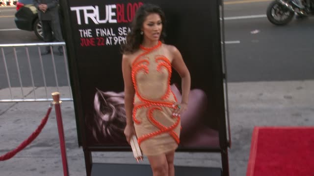 Janina Gavankar at True Blood Seventh and Final Season Premiere at TCL Chinese 6 Theatres on June 17 2014 in Hollywood California