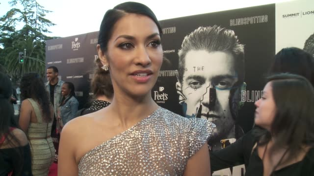 INTERVIEW Janina Gavankar on the film at the Blindspotting Oakland Premiere at The Grand Lake Theater on July 11 2018 in Oakland California