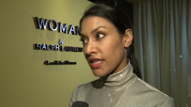 """INTERVIEW Janina Gavankar on what do you think of Woman by Ralph Lauren's Lead Like A Woman initiative on what does it mean to """"lead like a woman"""" on..."""
