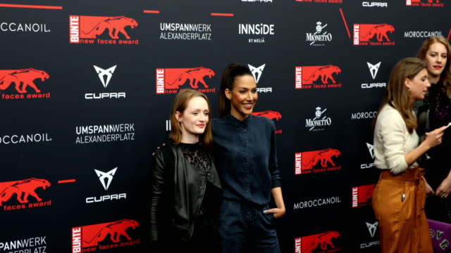 janina stopper and amy mussul at the new faces award film at umspannwerk alexanderplatz on may 2 2019 in berlin germany - cork stopper stock videos & royalty-free footage