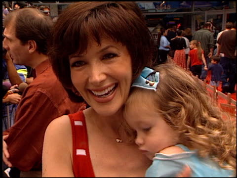 janine turner at the 'chicken run' premiere at universal citywalk cinema in universal city california on june 17 2000 - chicken wire stock videos and b-roll footage
