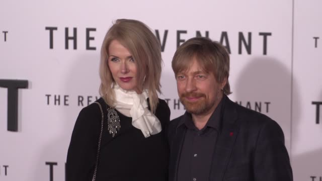 "janne tyldum and morten tyldum at the ""the revenant"" los angeles premiere at tcl chinese theatre on december 16, 2015 in hollywood, california. - janne tyldum stock videos & royalty-free footage"