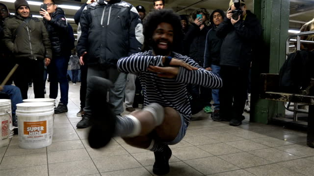 the 16th annual no pants subway ride / the event is organized by improv everywhere a new york city based prank collective that causes scenes of chaos... - union square new york city stock videos & royalty-free footage