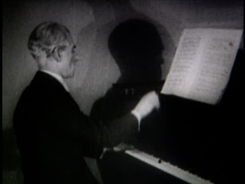 january 1928 maurice ravel playing the piano - composer stock videos & royalty-free footage
