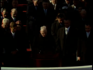 vidéos et rushes de january 20, 1961 prayer invocation being given by richard cushing / washington, d.c., united states - 1961