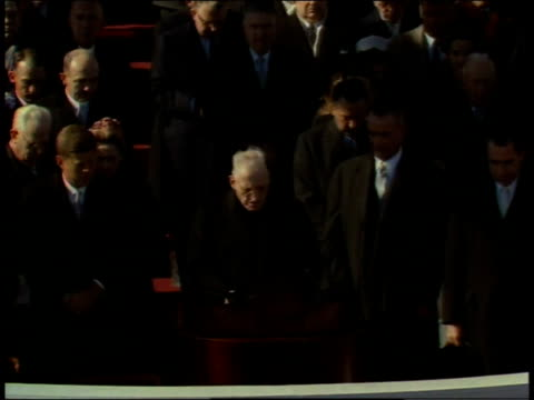january 20, 1961 prayer invocation being given by richard cushing / washington, d.c., united states - 1961 stock videos & royalty-free footage