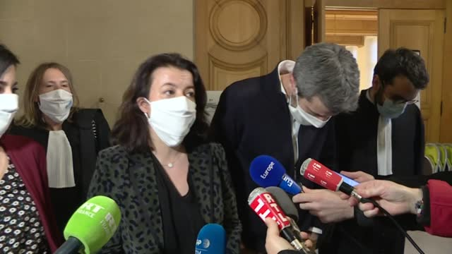 """january 2021 will be remembered as a great date,"""" says oxfam france's general director cécile duflot after a hearing during which france's public... - lawyer stock videos & royalty-free footage"""