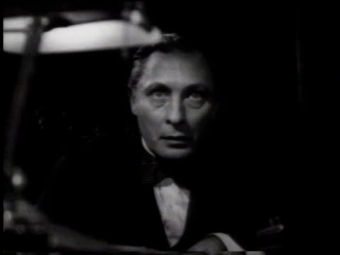 january 21, 1933 ms man sitting at a desk stares straight forward / united states - 1933 stock videos & royalty-free footage