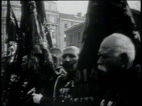 january 26, 1931 montage king boris and church clergy parading through streets and blessing troops / sofia, bulgaria - 1931 stock videos & royalty-free footage