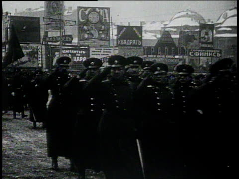 vidéos et rushes de january 26 1931 montage troops marching down street / sofia bulgaria - 1931