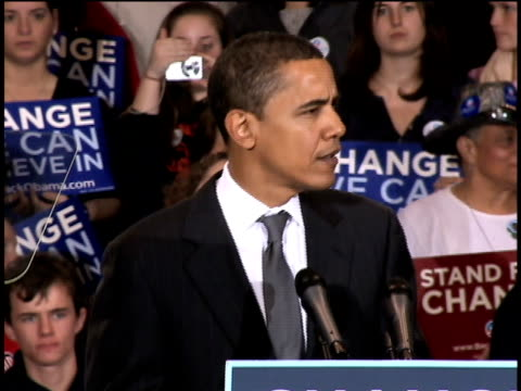 january 28 2008 ms barack obama speaking at podium during campaign rally at american university/ washington dc/ audio - 2008 stock videos & royalty-free footage