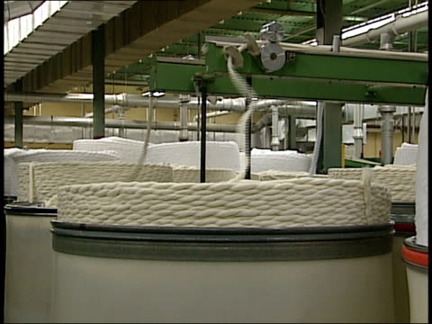 january 29, 2004 rope being made at a textile mill / south carolina, united states - 2004 stock videos & royalty-free footage