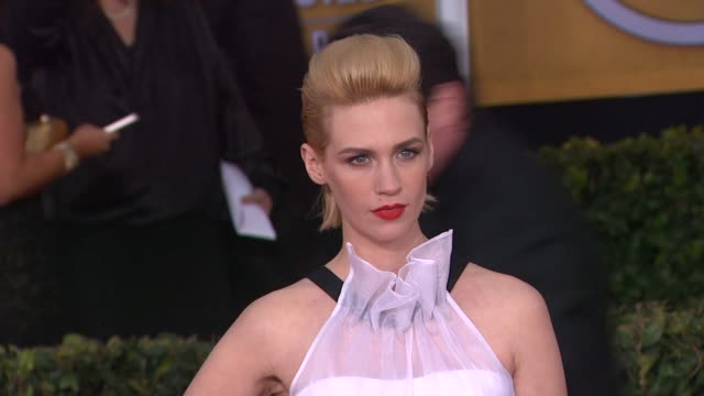 january jones at 19th annual screen actors guild awards arrivals on 1/27/13 in los angeles ca - january jones stock videos & royalty-free footage