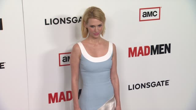 january jones at amc's 'mad men' season 6 los angeles premiere 3/20/2013 in los angeles ca - january jones stock videos & royalty-free footage