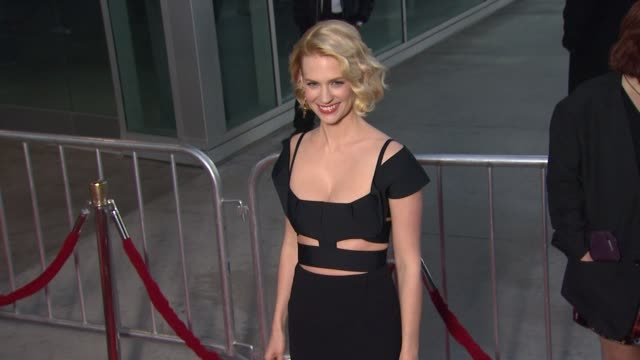 january jones at amc's mad men season five special premiere screening on 3/14/2012 in hollywood ca - january jones stock videos & royalty-free footage