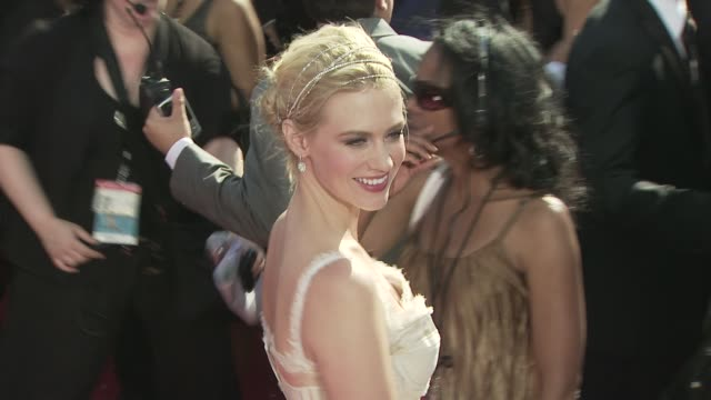january jones at the 60th primetime emmy awards at los angeles ca - january jones stock videos & royalty-free footage
