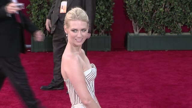january jones at the 61st annual primetime emmy awards arrivals part 4 at los angeles ca - january jones stock videos & royalty-free footage