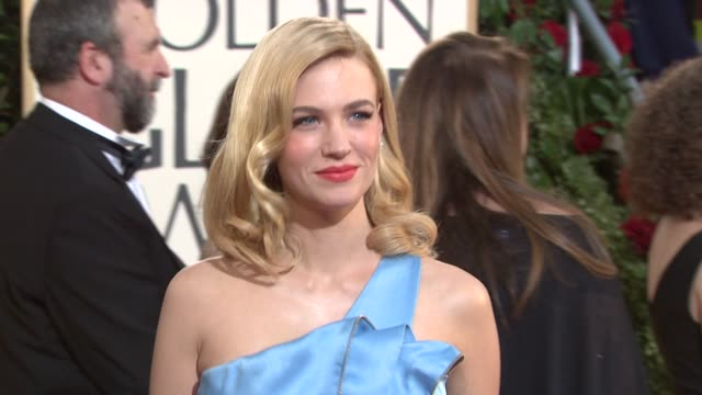 january jones at the 66th annual golden globe awards arrivals part 5 at los angeles ca - january jones stock videos & royalty-free footage