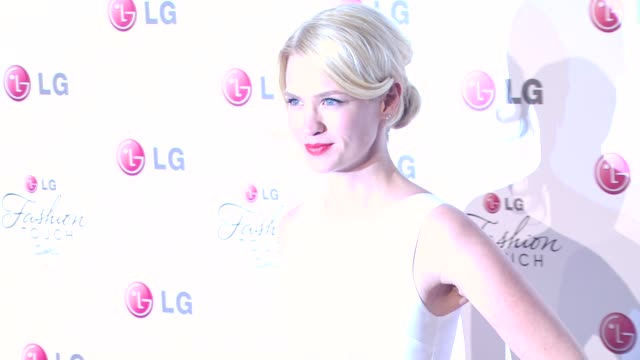 january jones at the a night of fashion and technology with lg mobile phones at west hollywood ca - january jones stock videos & royalty-free footage