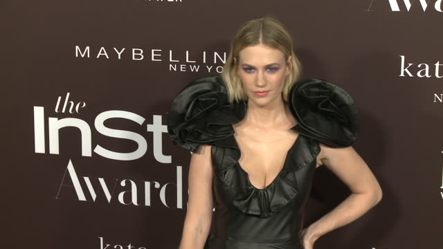 january jones at the fifth annual instyle awards in los angeles ca - january jones stock videos & royalty-free footage