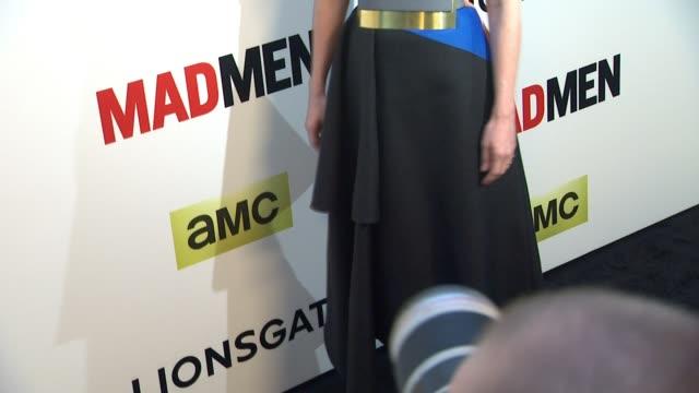 january jones at the mad men season seven los angeles premiere at arclight cinemas on april 02 2014 in hollywood california - january jones stock videos & royalty-free footage