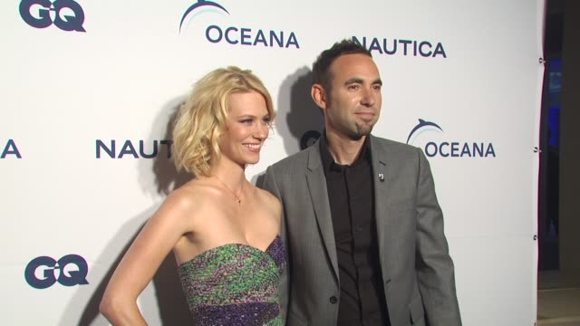 january jones at the nautica celebrates world oceans day at west hollywood ca - january jones stock videos & royalty-free footage