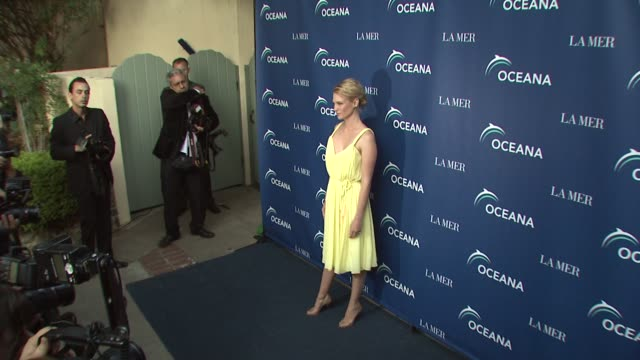january jones at the oceana la mer celebrates world oceans day at los angeles ca - january jones stock videos & royalty-free footage